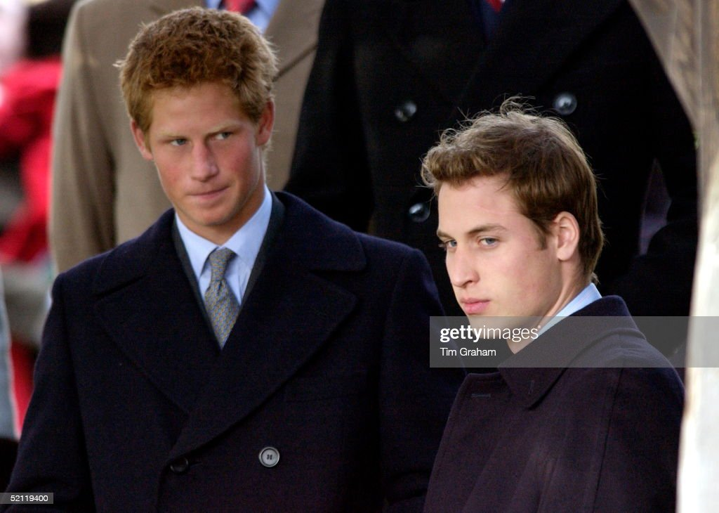 Royals Gather For A Family Christmas At Sandringham And Attend A Church Service - Brothers Prince William And Suntanned Prince Harry