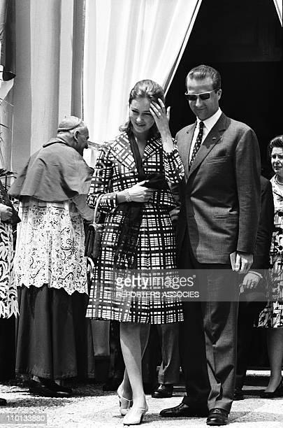 Royals of Belgium in Monaco on June 14th1966 Paola and Albert of Belgium arriving in Monaco