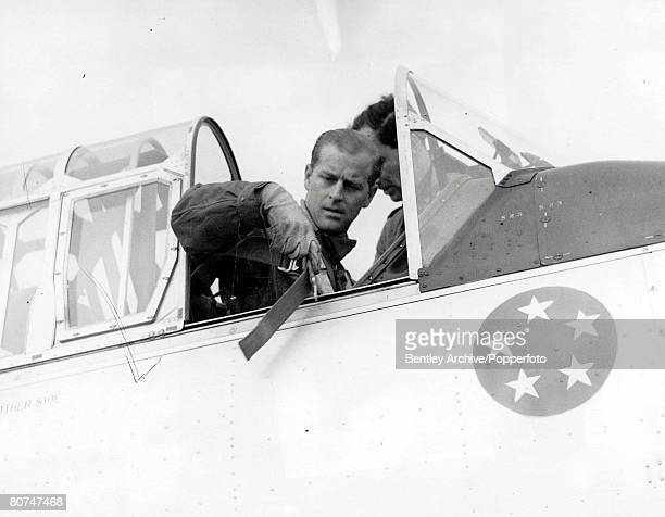 Royalty 4th May 1953 The Duke of Edinburgh Prince Philip qualifies for his RAF wings He made three flights in a single engined Harvard at White...