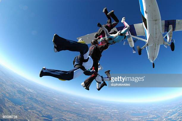 Royalty Free Stock Photo: Group Skydiving - Otter Exit