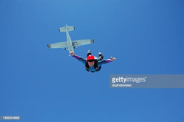 Royalty Free Stock Photo: Happy Woman In Freefall
