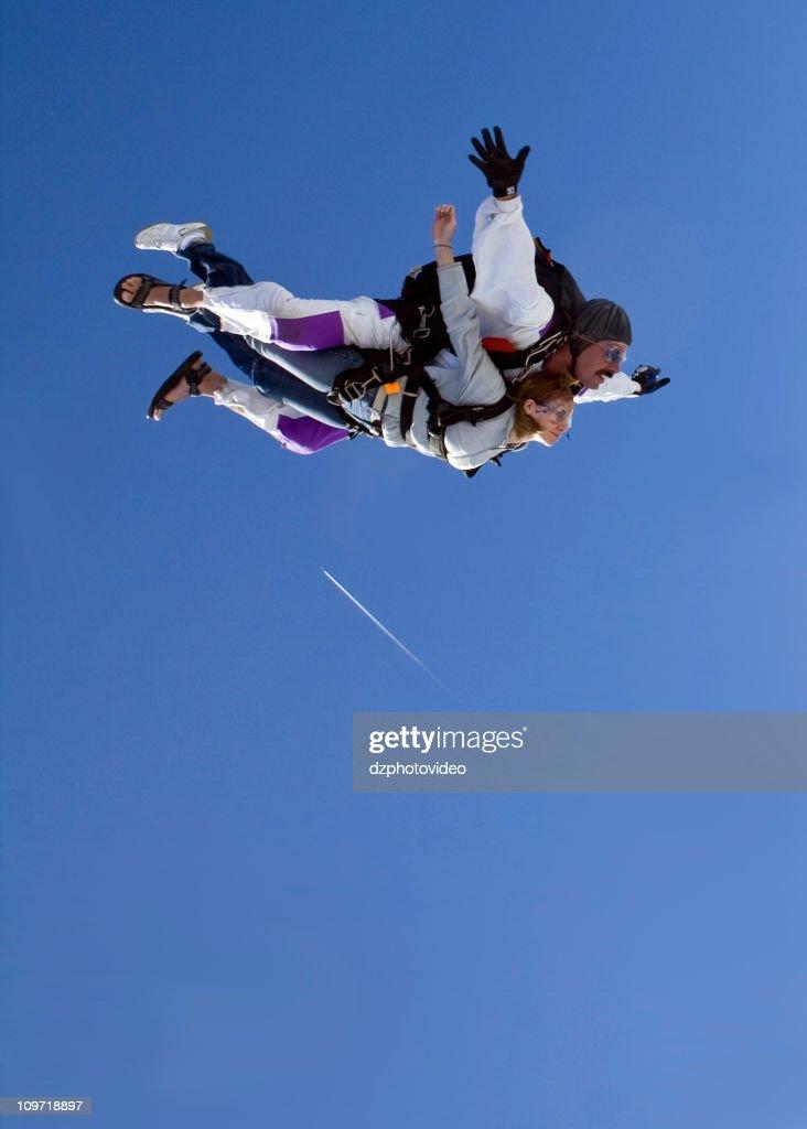 Royalty Free Stock Photo Of  Skydiving Tandem - Flight : Stock Photo