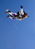 Royalty Free Stock Photo Of  Skydiving Tandem - Flight