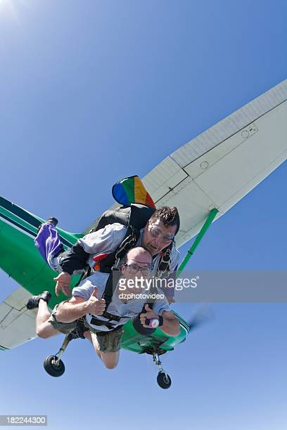 Royalty Free Stock Photo: Two Men Skydiving