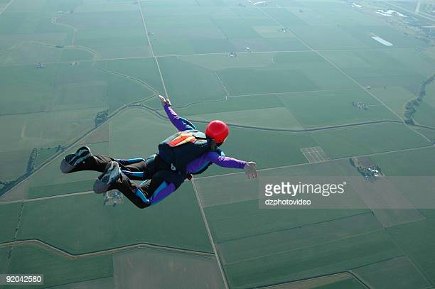 Royalty Free Stock Photo: Woman Skydiving - I Can Fly!