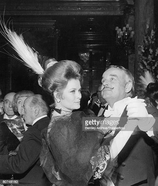 Royalty Monte Carlo18th March Prince Rainier of Monaco and his wife Princess Grace dance the first waltz at a ball to mark the grand opening of the...