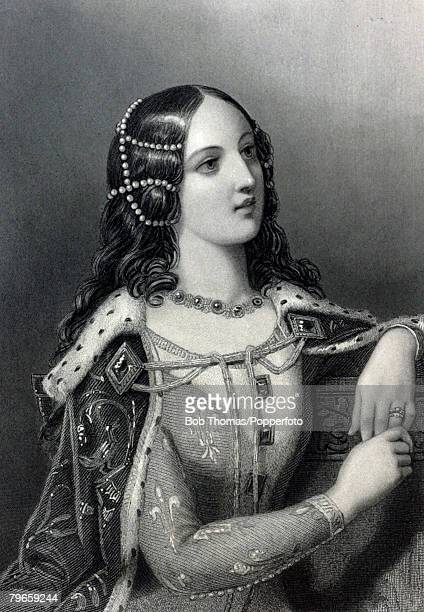 Royalty Queens and Consorts of England Illustration Isabella of Valois born in Paris France and married Richard II of England becoming his 2nd wife
