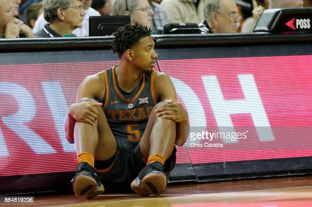 Royce Hamm Jr #5 of the Texas Longhorns waits to enter the game between the Texas Longhorns and the Florida AM Rattlers at the Frank Erwin Center on...