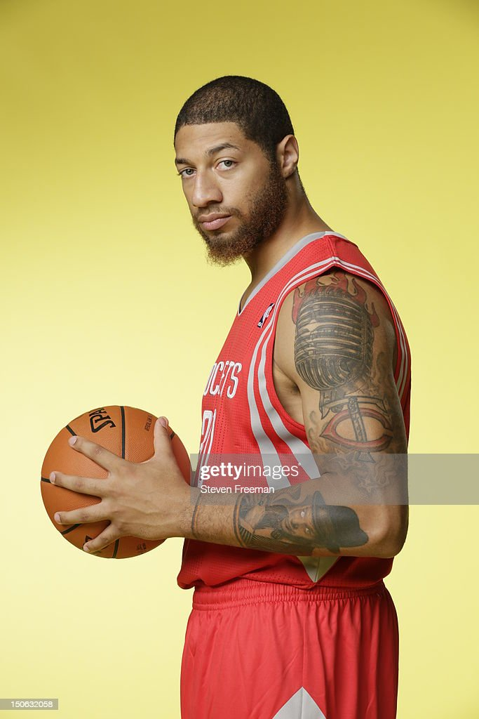 Royce White #30 of the Houston Rockets poses for a portrait during the 2012 NBA rookie photo shoot on August 21, 2012 at the MSG Training Facility in Tarrytown, New York.
