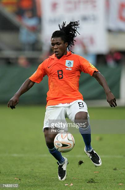 Royston Drenthe of the Netherlands in action during the UEFA European Under21 Championship semifinal match between the Netherlands U21 and England...