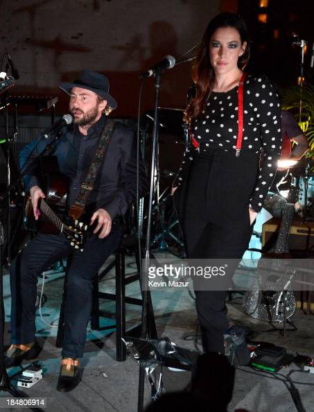 Royston Langdon and Liv Tyler during a performance benefitting David Lynch Foundation at Electric Lady Studio on October 16 2013 in New York City