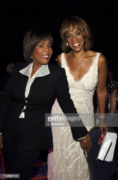 Roz Abrams and Gayle King during American Women in Radio Television 30th Annual Gracie Allen Awards Inside at New York Marriot Marquis Hotel in New...