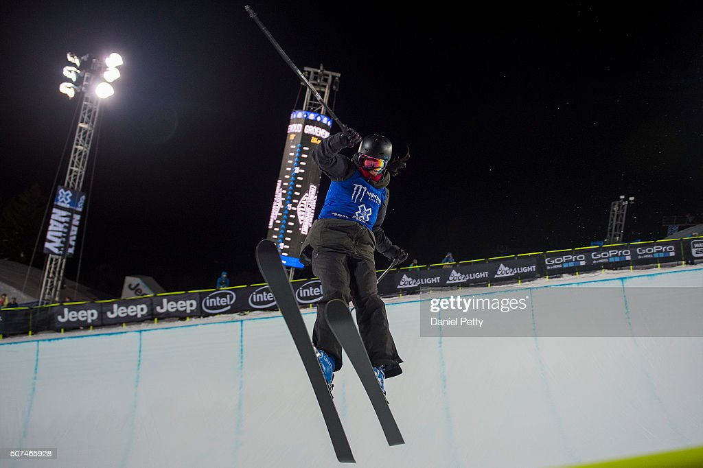 Roz Groenewoud #746 of Canada catches air during the second run of the women's ski halfpipe at Winter X Games 2016 Aspen at Buttermilk Mountain on January 29, 2016, in Aspen, Colorado. Groenewoud finished sixth overall.