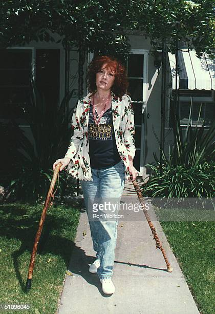 Roz Kelly Aka Pinky Tuscadero The Fonz's Girlfriend On Happy Days Photo Taken At Roz's Apartment In No Hollywood Ca
