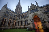 Roz Mitchell marketing manager explores the new Squidsoup light installation Enlightenment in the North Porch of Salisbury Cathedral on June 12 2015...