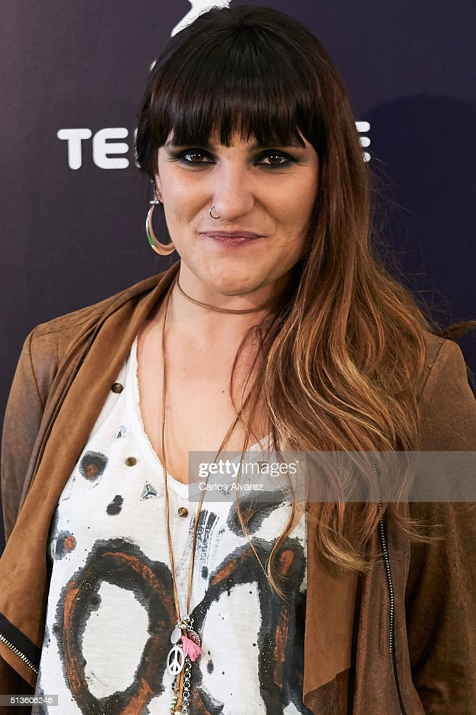 Rozalen attends the 'Cadena Dial' 2015 awards press room at the Recinto Ferial on March 3, 2016 in Tenerife, Spain.