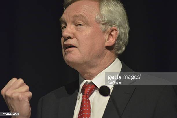 Rt Hon David Davis MP member of the United Kingdom Parliament for Haltemprice and Howden and former Conservative Party Chairman speaking at the...