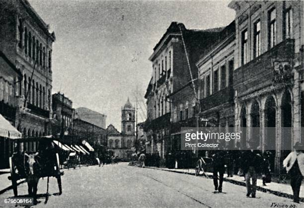 "Rua 15 de Novembro' 1895 XV de Novembro street is a backyard of the central region of the city of S""o Paulo Brazil Today it is totally paved being..."