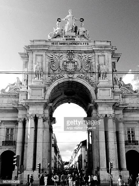 Rua Augusta Arch In Praca Do Comercio Against Sky