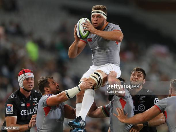 Ruaan Lerm of The Southern Kings during the Super Rugby match between Cell C Sharks and Southern Kings at Growthpoint Kings Park on March 18 2017 in...