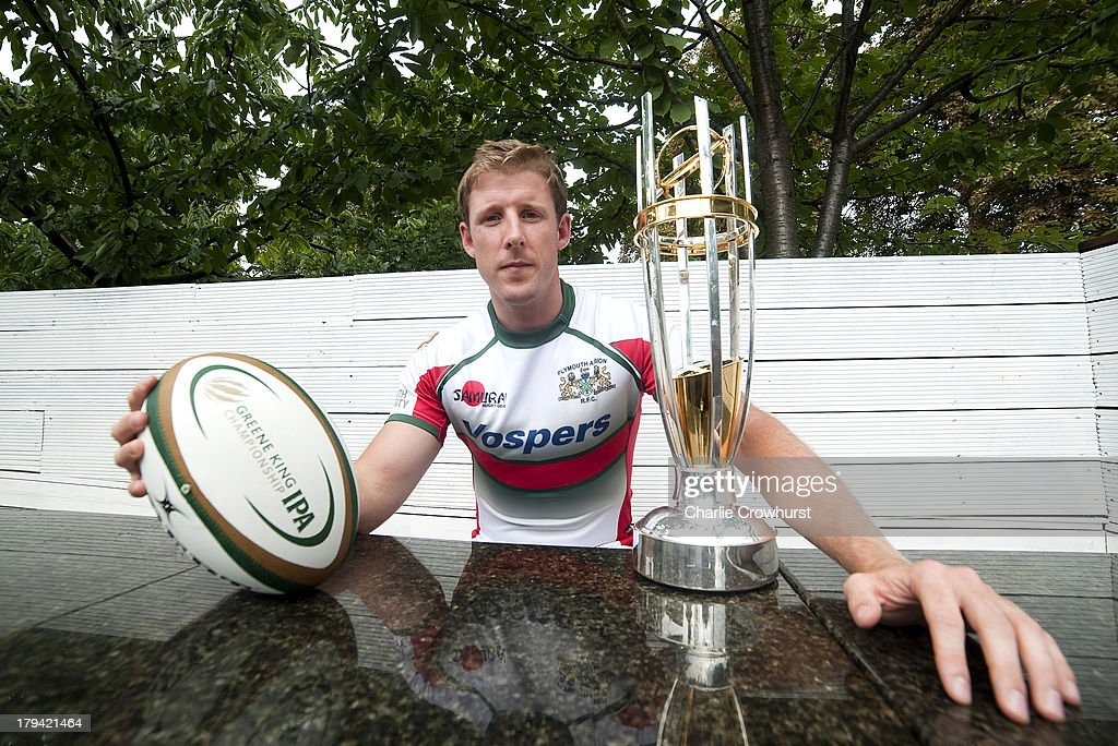 Ruairi Cushion of Plymouth Albion during the 2013/14 Greene King IPA Championship Launch at St Margarets Pub on September 03, 2013 in London, England.