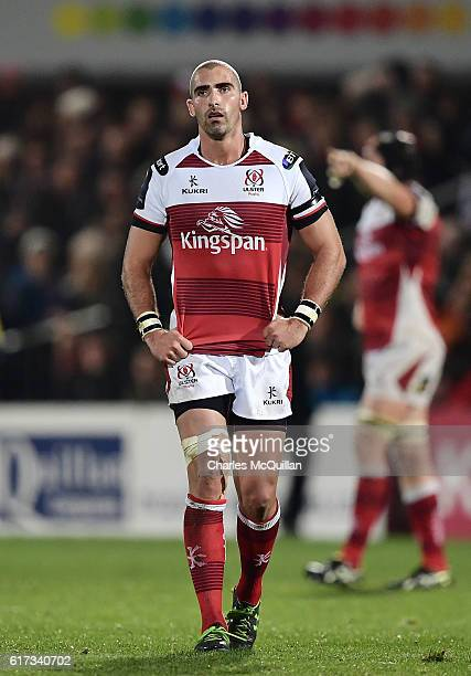 Ruan Pienaar of Ulster during the Champions Cup Pool 5 game between Ulster Rugby and Exeter Chiefs at Kingspan Stadium on October 22 2016 in Belfast...