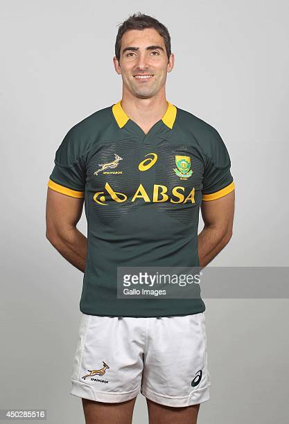 Ruan Pienaar poses for a photo during the South African national rugby team photocall session on May 31 2014 in Johannesburg South Africa