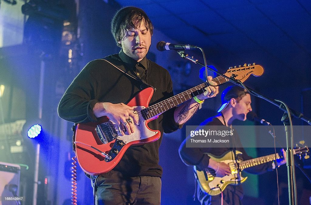 Ruban Nielson of Unknown Mortal Orchestra performs on stage on Day 1 of the ATP Weekender curated by TV On The Radio on May 10, 2013 in Camber, United Kingdom.