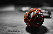 Rubber Band, Office, Red, ball, selective color
