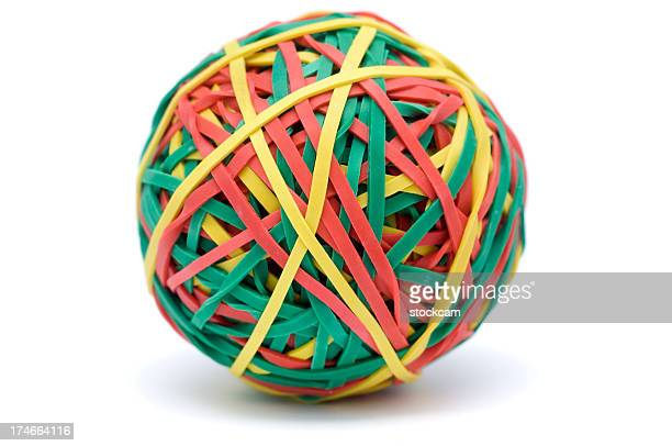 Rubber Band Ball on white