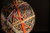 large ball made of rubber bands