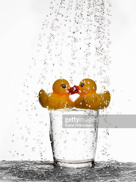 Rubber duck in a glass of water