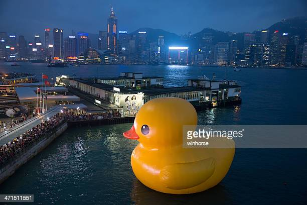 Canard en caoutchouc à Hong Kong