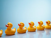 Rubber ducks in a row