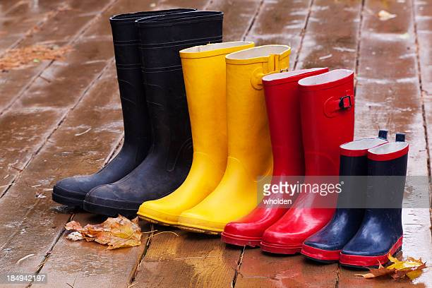 Rubber Rain Boots in Fall