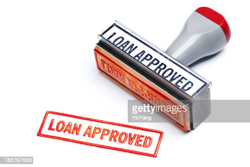 """""""LOAN APPROVED"""" Rubber Stamp for Bank Mortgage Contract Agreement Authority"""