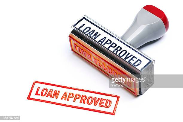 """LOAN APPROVED"" Rubber Stamp for Bank Mortgage Contract Agreement Authority"