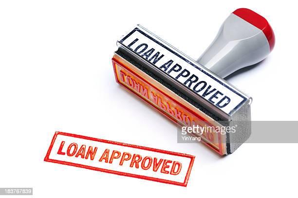"""""""prestito approvato"""" il timbro di gomma per banca contratto di mutuo accordo autorità"""