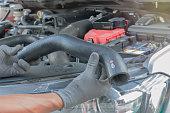 Rubber tube radiator, Maintenance of diesel engine.
