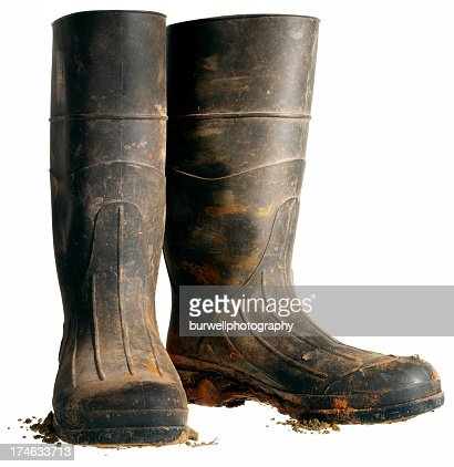 Rubber Work Boot, Isolated