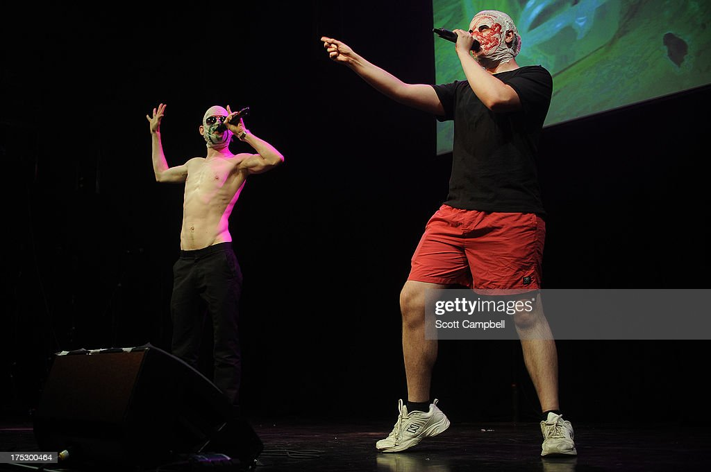 Rubberbandits perform during the Gilded Balloon press launch at The Edinburgh Festival Fringe on August 1, 2013 in Edinburgh, Scotland.