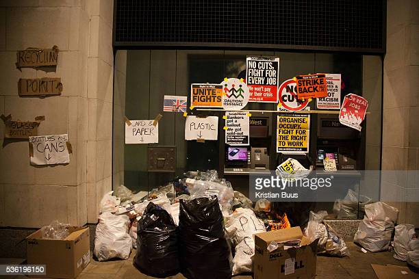 Rubbish collected by cash machines The London Stock Exchange was attempted occypied in solidarity with Occupy Wall in Street in New York and in...