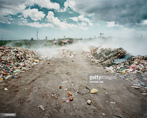 Rubbish dump on fire