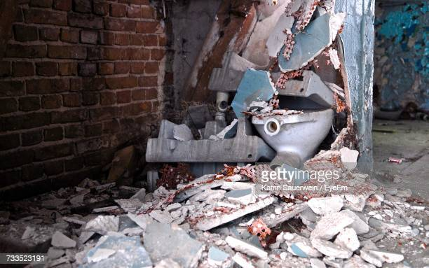 Rubble In Abandoned Building