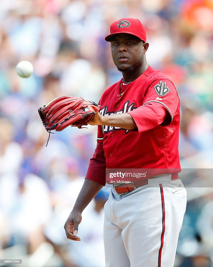 Rubby De La Rosa of the Arizona Diamondbacks in action against the New York Mets at Citi Field on July 12 2015 in the Flushing neighborhood of the...