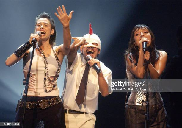 Ruben Albarran of Cafe Tacuba during MTV Music Video Awards Latinoamerica 2002 Show at Jackie Gleason Theater Miami in Miami Florida United States