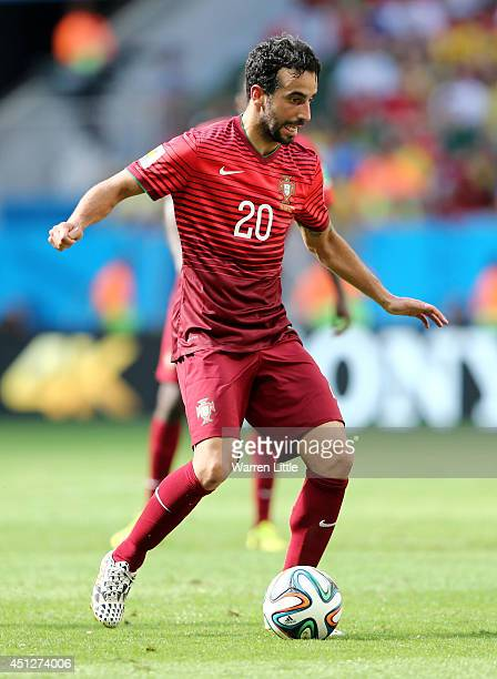 Ruben Amorim of Portugal controls the ball during the 2014 FIFA World Cup Brazil Group G match between Portugal and Ghana at Estadio Nacional on June...