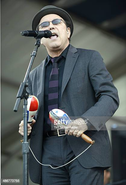 Ruben Blades performs during the 2014 New Orleans Jazz Heritage Festival at Fair Grounds Race Course on April 25 2014 in New Orleans Louisiana