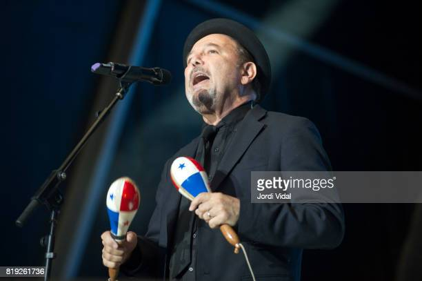 Ruben Blades performs on stage at Poble Espanyol on July 19 2017 in Barcelona Spain