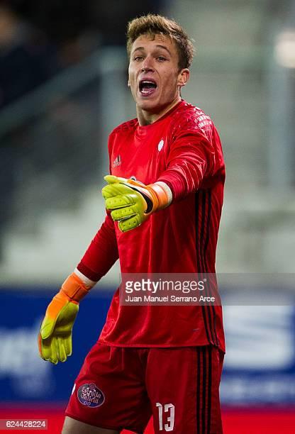 Ruben Blanco of RC Celta de Vigo reacts during the La Liga match between SD Eibar and RC Celta de Vigo at Ipurua Municipal Stadium on November 19...